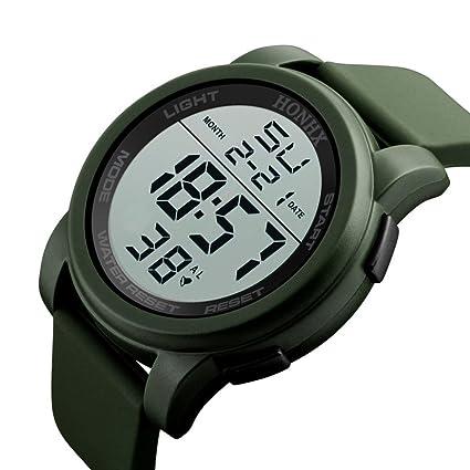 Reloj Deportivo Hombres,Hombres de Lujo analógico Militar Digital Deporte LED Impermeable Reloj de Pulsera
