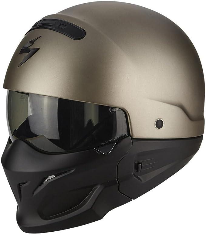 Scorpion Exo Combat Solid Helm XXL 62//63 Titan