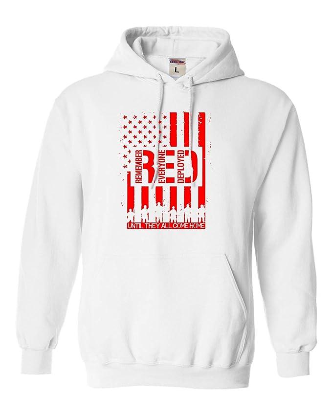 Adult Remember Everyone Deployed RED Friday Sweatshirt Hoodie