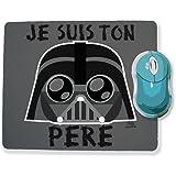"""Tapis de souris Dark Vador (Star wars) """"Je suis ton père"""" Chibi et Kawaii by Fluffy chamalow - Fabriqué en France - Chamalow shop"""
