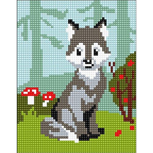 Wolf Needlepoint Kit (RTO Wolf-Cub Collection D'Art Stamped Needlepoint Kit)