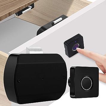 Biometric Fingerprint Smart Lock USB Rechargeable for Cabinet Drawer Locker Door
