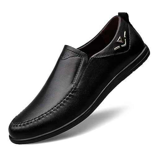 Zapatos de Cuero Ocasionales de los Hombres Zapatos Mocasines de Vestido Zapatos de conducción Planos de Negocios Marrón, Blanco, Negro, ...
