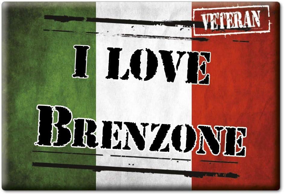 Italia Fridge Magnet Souvenir I Love VAR. Black VR Enjoymagnets BRENZONE CALAMITA Magnete Veneto