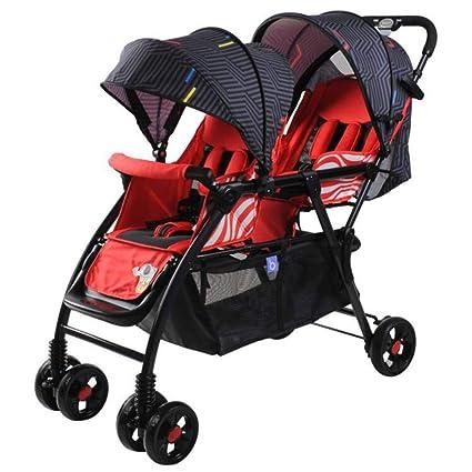 YAN Cochecito Doble para bebé, Asiento Delantero y Trasero con Sistema de Seguridad de 5