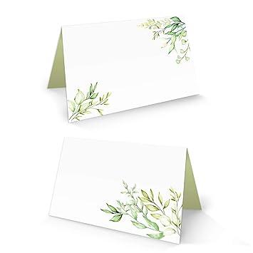 100 Stück Smaragdgrün 13,2 x 5,1 cm Große Tischkarte/Platzkarte