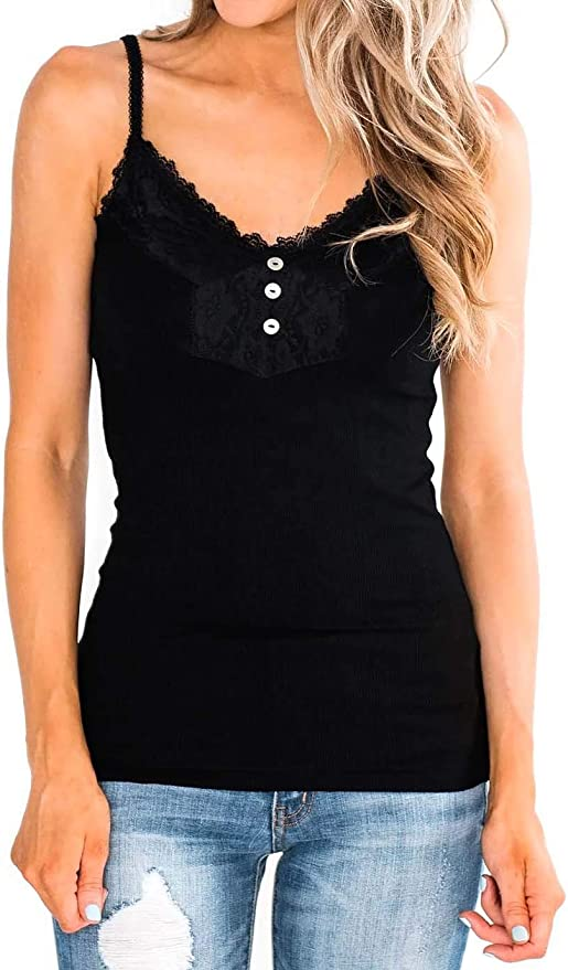 Women Top Quality White Lace trimmed Camisole Set   European Products
