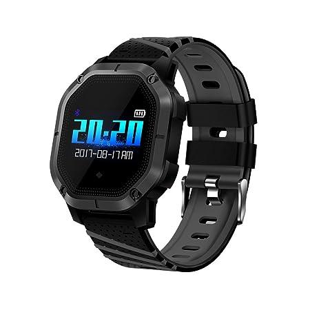 elecfan Pulsera Inteligente IP68 a prueba de agua, relojes inteligentes con monitor de sueño de pantalla en color, cuenta paso, monitor de presión arterial ...