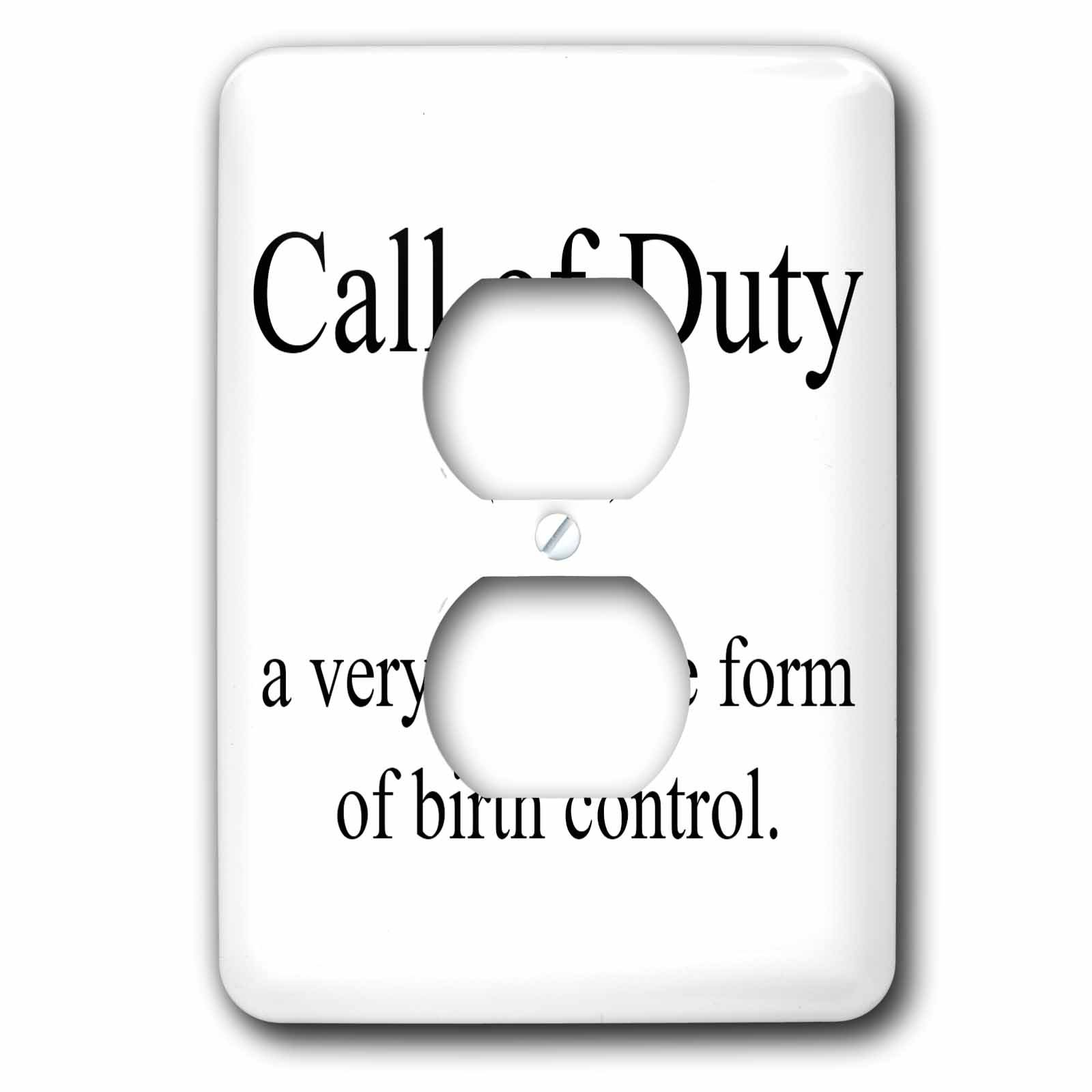 3dRose lsp_173336_6 Call Of Duty Noun A Very Effective Form Of Birth Control. - 2 Plug Outlet Cover by 3dRose