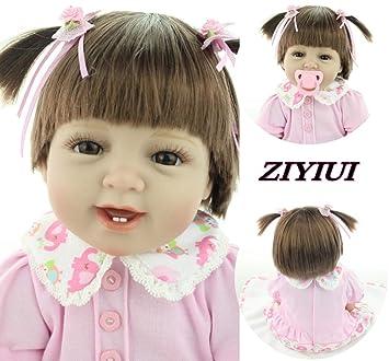 Amazon.es: ZIYIUI 55 cm 22 Inch Muñecas Reborn Niña Vinilo de ...