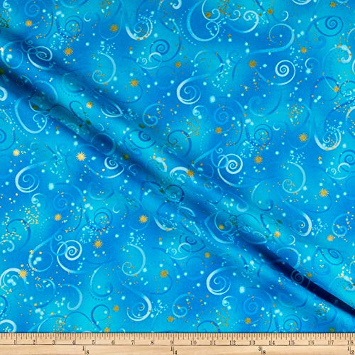 Benartex Kanvas Dragonfly Dance Swirling Sky Cobalt Blue, Fabric by the Yard
