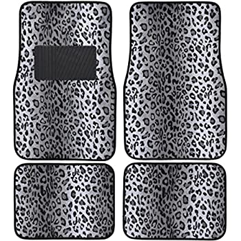 Amazon Com A Set Of 4 Universal Fit Animal Print Carpet