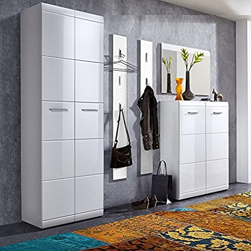 Komplett Garderoben Set ● 5-teilige Flurgarderobe Flurmöbel ...