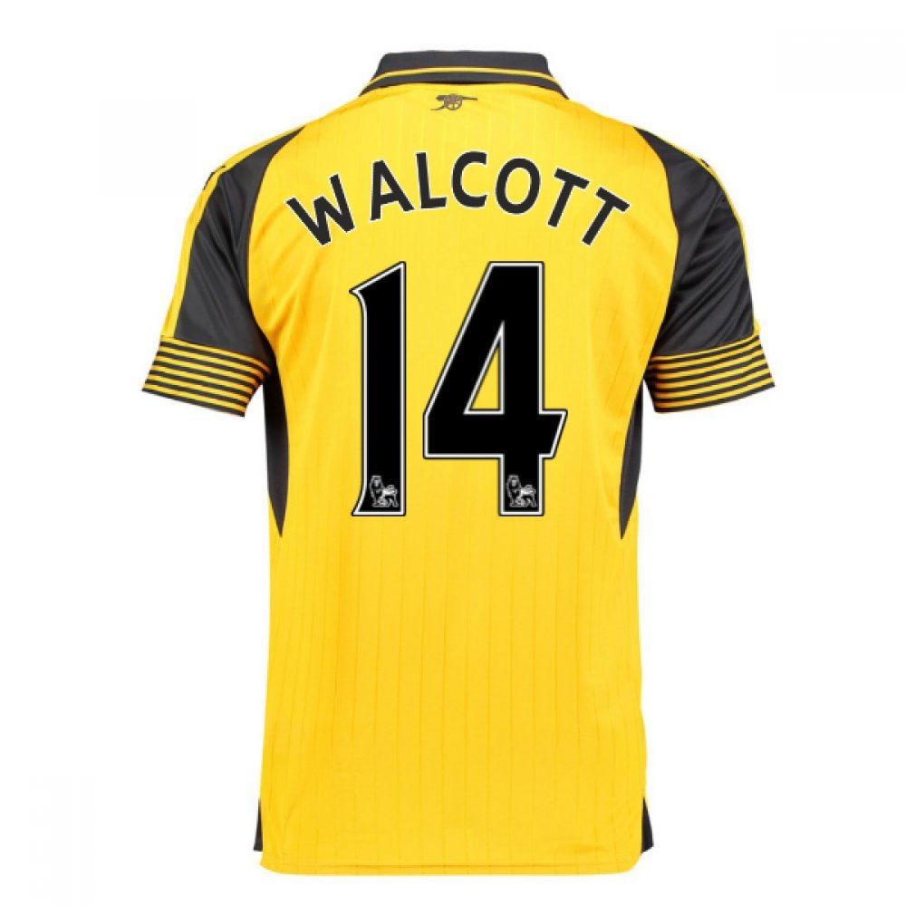 2016-17 Arsenal Away Football Soccer T-Shirt Trikot (Theo Walcott 14) - Kids