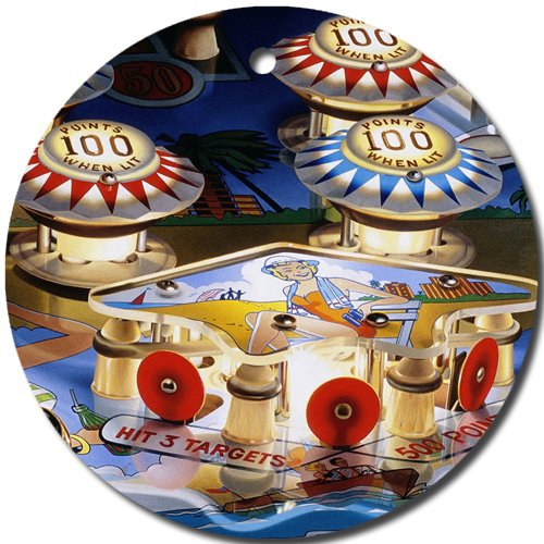 Pinball Ornament round porcelain Christmas Great Gift Idea