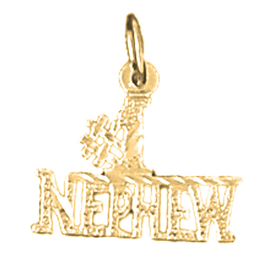 Made in USA 18K Yellow Gold #1 Nephew Pendant JEWELS OBSESSION 18K #1 Nephew Pendant