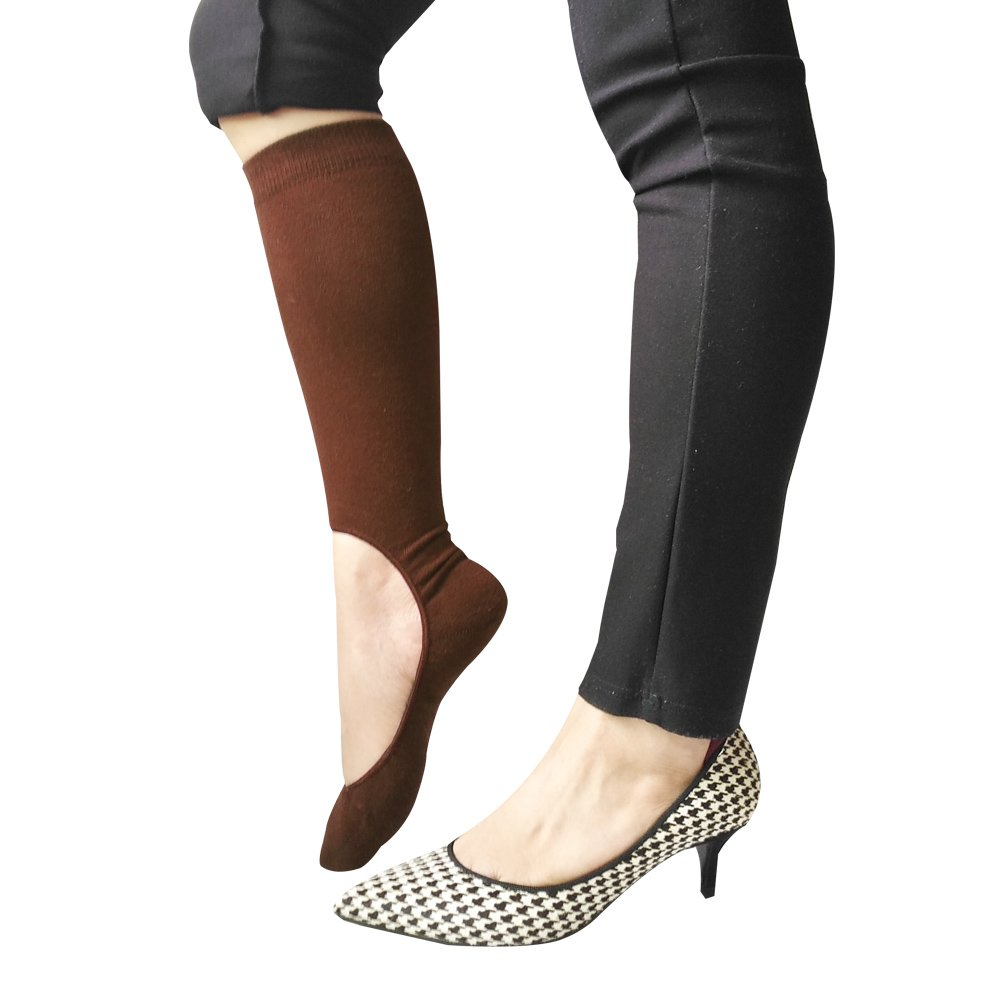 Tipsocks Knee High No Show Socks for Womens