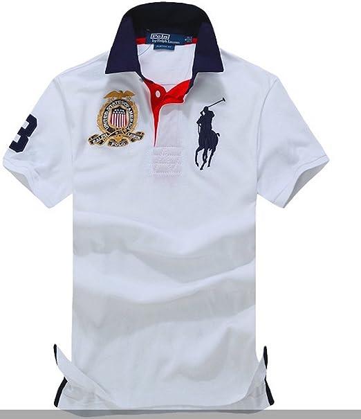 Polo Ralph Lauren Camisa de Estados Unidos Polo Equipo Ligero de Manga Corta para Hombre S: Amazon.es: Ropa y accesorios