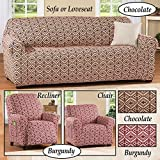 Southwest Knit Stretch Sofa Chocolate Slipcover