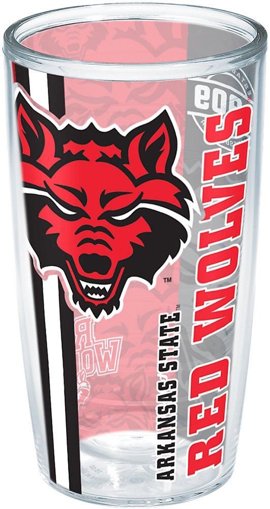 Tervis 1229521 Arkansas State Red Wolves College Pride Insulated Tumbler With Wrap 16Oz Clear
