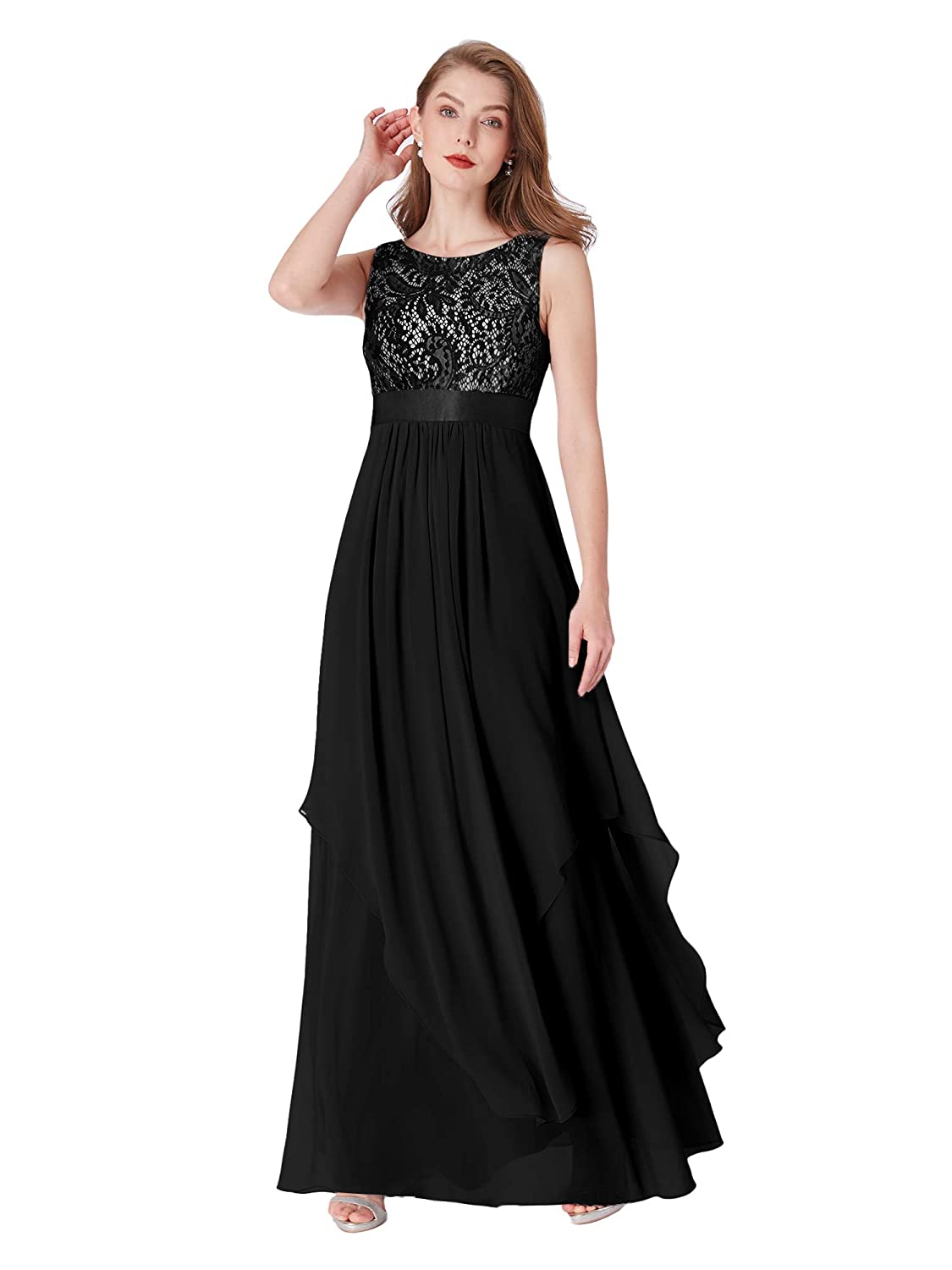 a02de34c48 Ever-Pretty Elegant Sleeveless Round Neck Party Evening Dress 08217 at  Amazon Women s Clothing store