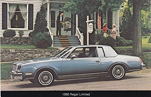 - 1980 BUICK REGAL LIMITED COUPE VINTAGE COLOR POST CARD - GREAT ORIGINAL POSTCARD - USA !!