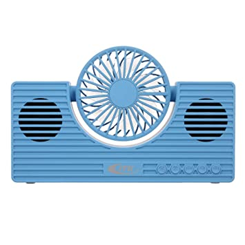 Festnight Mini Altavoz Bluetooth con Ventilador Altavoz para ...