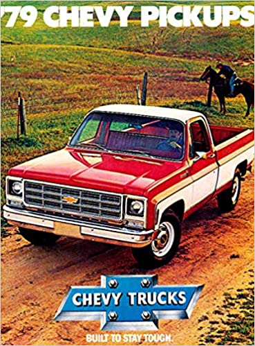 1979 ORIGINAL CHEVY PICKUP TRUCK DEALERSHIP SALES BROCHURE