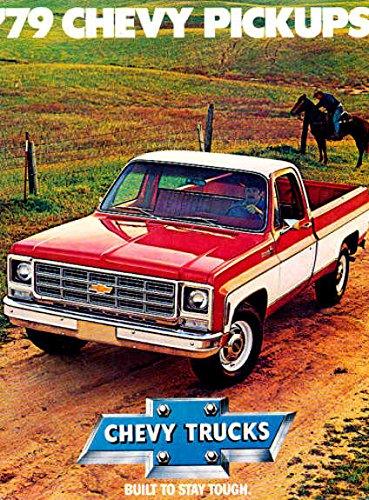 1979 ORIGINAL CHEVY PICKUP TRUCK DEALERSHIP SALES BROCHURE - INCLUDES; Fleetside, Stepside, Crew Cab, Bonus Cab and Chassis Cab - Gas & Diesel - ADVERTISMENT - LITERATURE - CHEVROLET 79 ()
