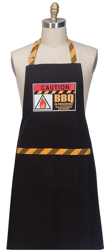 Kay Dee diseños w4038 precaución barbacoa Chef delantal,