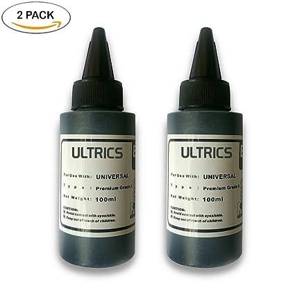 ULTRICS Recarga Tinta, Kit de Recarga Cartuchos de Tinta Impresora Negra 100 ml para Brother, Canon, DELL, Epson, HP, Impresoras Lexmark, Cartuchos de ...