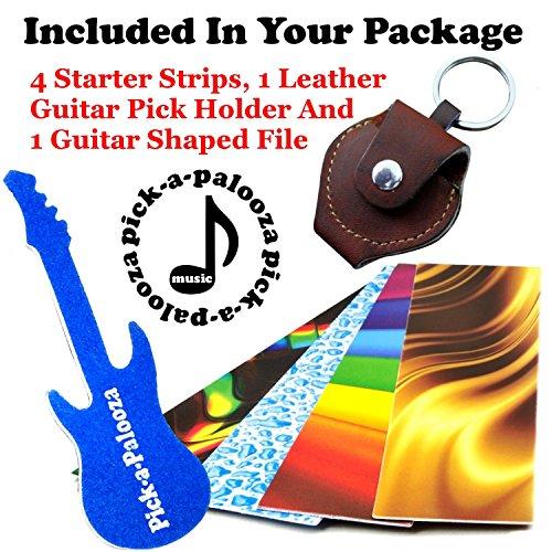 Pick-a-Palooza DIY Guitar Pick Punch with Leather Key Chain Pick Holder - Blue by Pick-A-Palooza (Image #1)