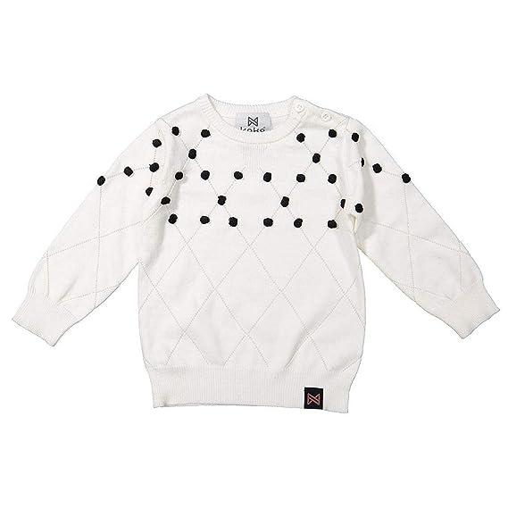 undefeated x new release new authentic PRINCESSE ILOU Pull bébé Fantaisie - Blanc - 18 Mois: Amazon ...
