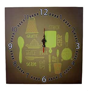 Printed Wooden Analog Wall Clock - 40 cm