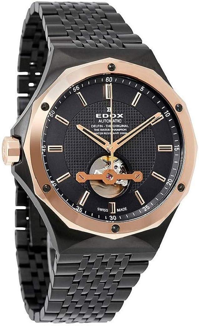 Edox Men s 85024 37GRM Gir Delfin Analog Display Swiss Automatic Grey Watch
