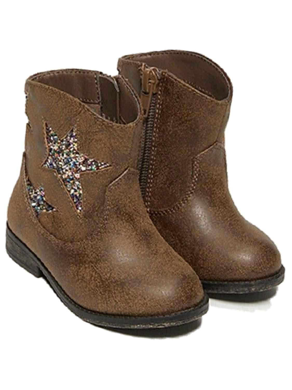 Garanimals Infant Girls Brown Glitter Star Cowboy Boots Baby Cow Boy Shoes