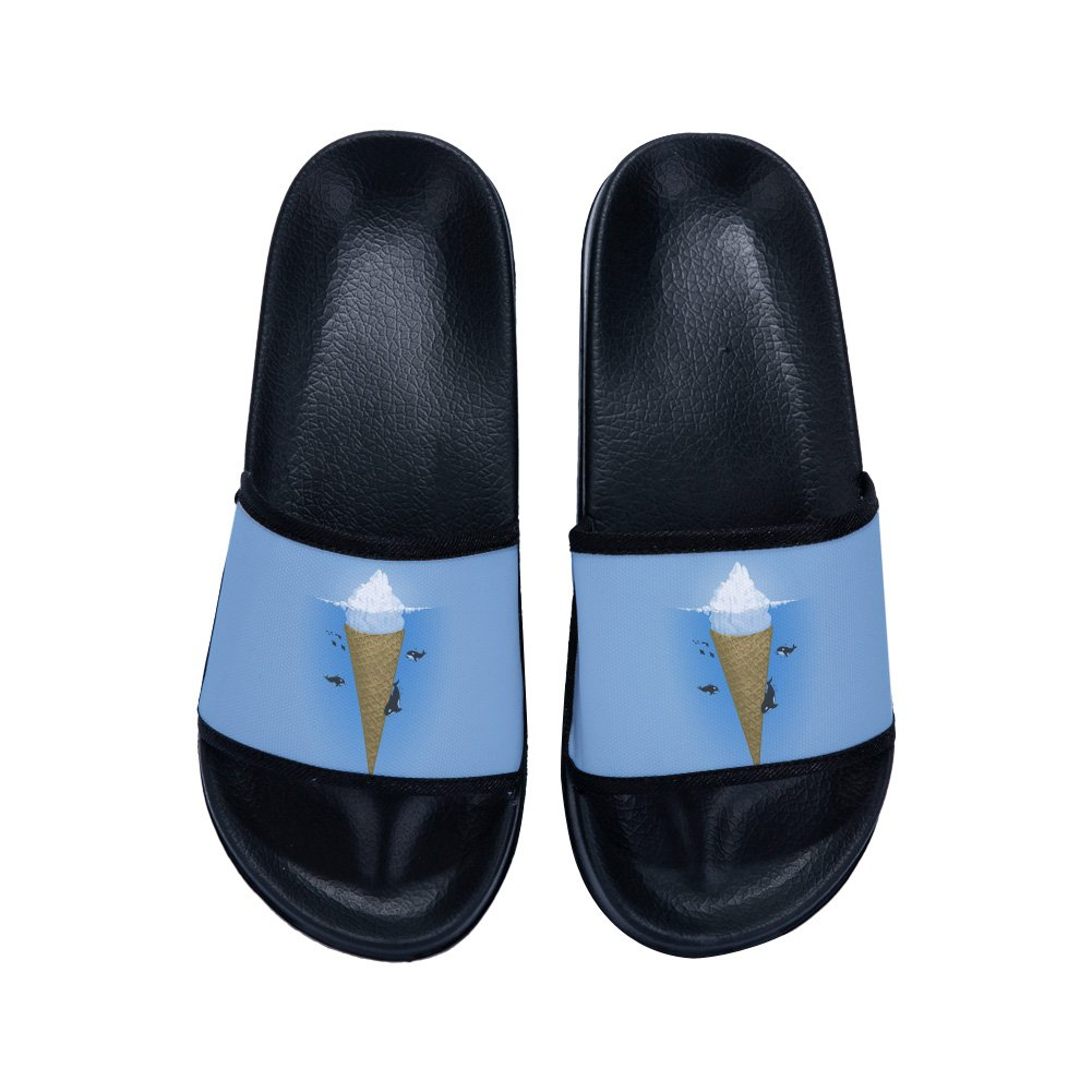 Boys Girls Casual Beach Wear Flip Flops Indoor Floor Slipper Anti-Slip Bath Slippers