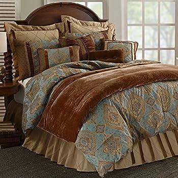 Amazon Com Hiend Accents Bianca 4 Piece Comforter Set