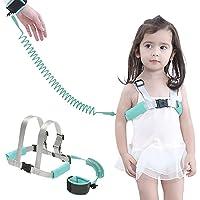ARONTIME 防丢失手腕链接幼儿*手腕链,儿童*胸背带,适合步行时佩戴,幼儿*牵引绳(薄荷蓝)