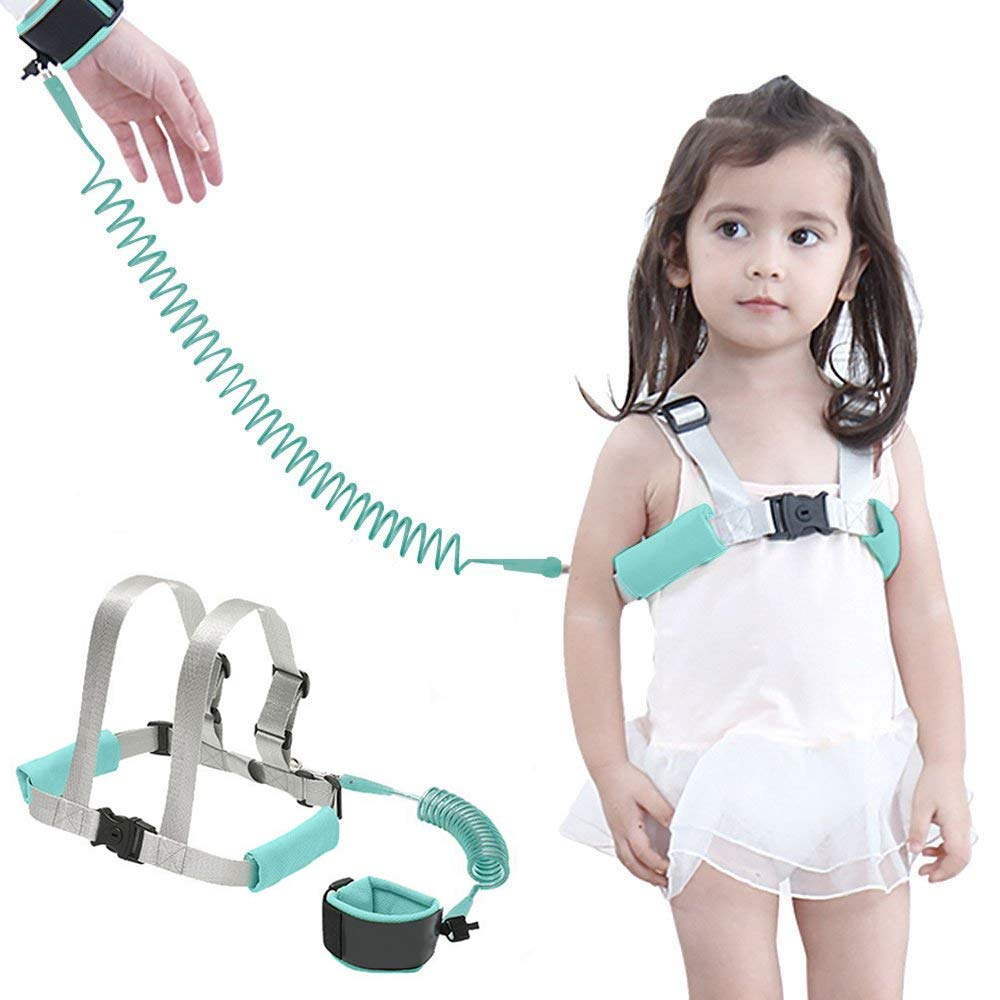 Anti Lost Wrist Link Safety Wrist Link for Toddlers, Safety Harness for Kids, Baby Harness for Walking,Babies & Kids(Mint Blue) LTD