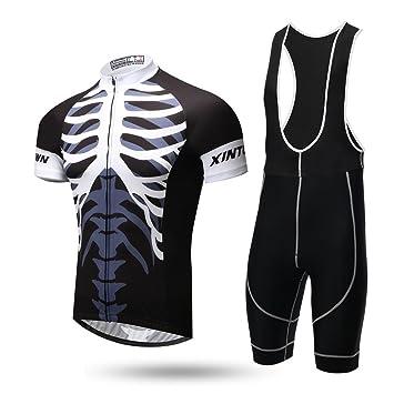 Amazon.com: teyxoco Hombres Esqueleto Ciclismo Gel Pad ...