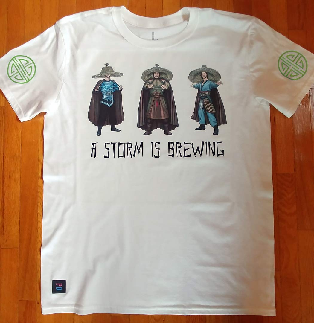 Big Trouble in Little China inspired character tees - A STORM IS BREWING - 80s theme