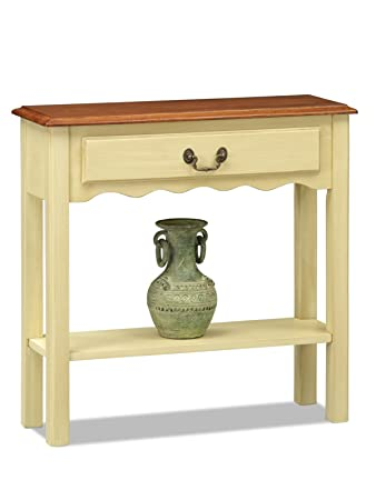 Leick Wave Hall Console Table, Ivory Finish