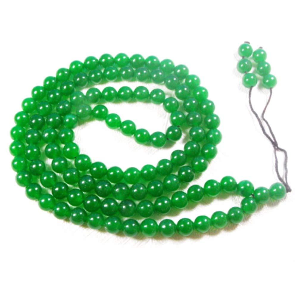 EASTCODE Charming Tibet Buddhist 108 Green 8mm Jade Beads Prayer Mala Necklace