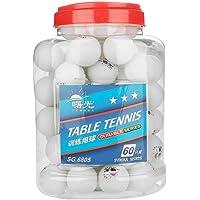 Dilwe Pelota de Ping-Pong, Xylonite Premium Standard Training Balls Pelotas de Tenis de Mesa para Principiantes Competencia 60 Piezas