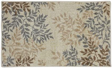 Mohawk Home Meadow Leaves Neutral Area Rug, 20 By 34 Inch