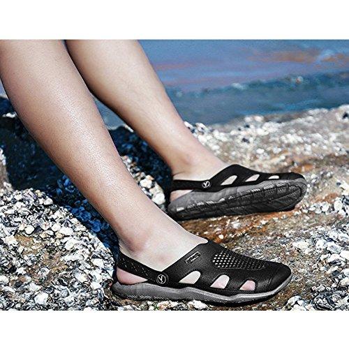adatto Black Sport Zoccoli Sandali libero Grey Walking And giardino tempo Outdoor traspirante Unisex antiscivolo Sportivo il Estate Beach Pantofole Pool per da Doccia 6dqRwBWUH