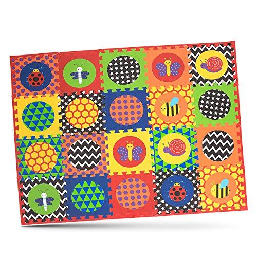 Nuby Interlocking Baby Play Mat, Foam Floor Tiles for Infants and Children, 52 x 65