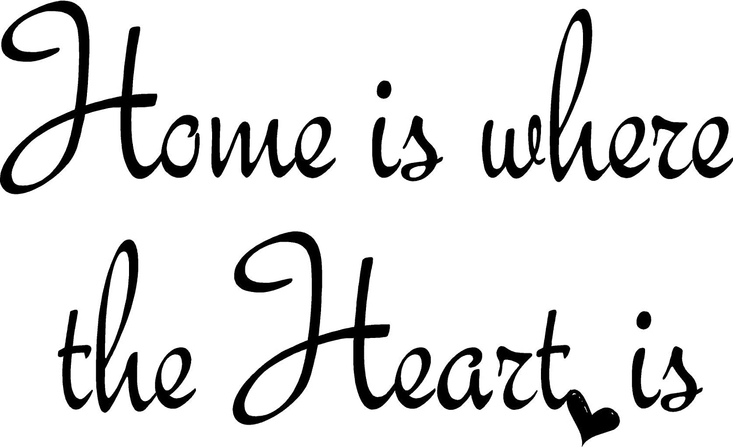 Amazon Quote It Home Is Where The Heart Is Wall Quote