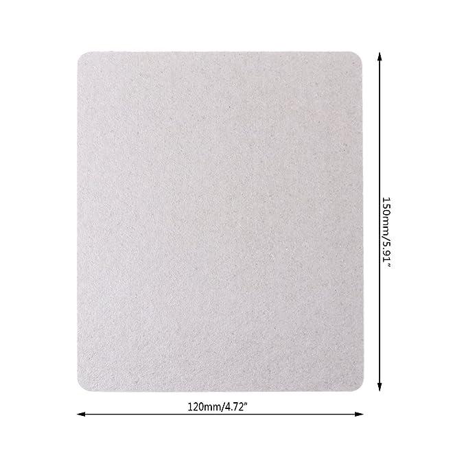 jiheousty 5 Piezas Mica Plate Sheets Microondas Horno Reemplazar Parte 120x150mm Universal para Midea